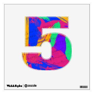 Number Decal   Groovy Paint Colors and Music Room Stickers