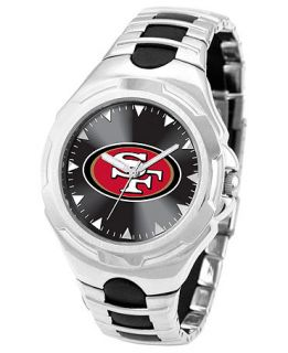Game Time Watch, Mens San Francisco 49ers Black Rubber and Stainless Steel Bracelet 43mm NFL VIC SF   Watches   Jewelry & Watches