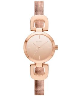 DKNY Womens Rose Gold Tone Stainless Steel Mesh Bracelet Watch 24mm NY2102   Watches   Jewelry & Watches