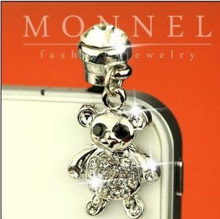 ip227 Luxury Teddy Bear Anti Dust Plug Cover Charm For iPhone Android Cell Phones & Accessories