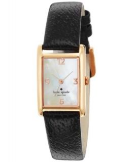 kate spade new york Watch, Womens Cooper Grand Black Quilted Leather Strap 38x25mm 1YRU0120   Watches   Jewelry & Watches