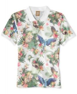 LRG Big & Tall Hawaiian Safari Linen Blend Shirt   Casual Button Down Shirts   Men