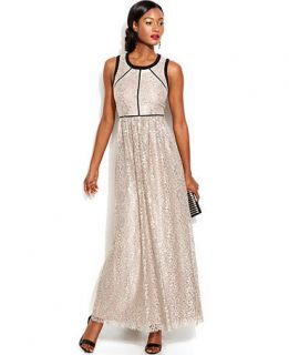 Ivanka Trump Sleeveless Lace Gown   Women
