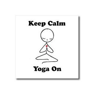 ht_123070_2 EvaDane   Funny Cartoons   Keep calm yoga on. Meditation Stick Figure. Yoga. Lotus Position.   Iron on Heat Transfers   6x6 Iron on Heat Transfer for White Material Patio, Lawn & Garden