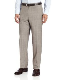 Joseph Abboud Men's Plaid Flat Front Dress Pant at  Men�s Clothing store