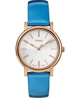 Timex Womens Originals Classic Blue Patent Leather Strap Watch 33mm T2P330AB   Watches   Jewelry & Watches