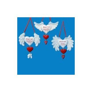 Club Pack of 12 Nurses Have Angel Wings Christmas Ornaments   Decorative Hanging Ornaments