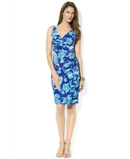 Lauren Ralph Lauren Dress, Sleeveless Paisley Print Jersey   Dresses   Women