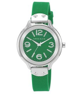 Anne Klein Womens Green Silicone Strap Watch 38mm AK 1615GNGN   Watches   Jewelry & Watches