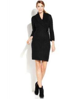Calvin Klein Textured Knit Sweater Dress   Dresses   Women
