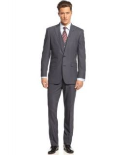 Bar III Suit Light Grey Twill Slim Fit   Suits & Suit Separates   Men