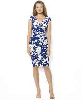 Lauren Ralph Lauren Petite Dress, Sleeveless Floral Print Empire Waist   Dresses   Women