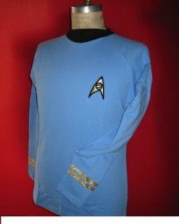 Star Trek Tos Classic Spock Costume Blue  Super Deluxe  Cotton   Large Toys & Games