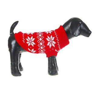 Christmas Style Snowflakes Pattern Sweater for Pets Dogs (Assorted Sizes)  Pet Toys
