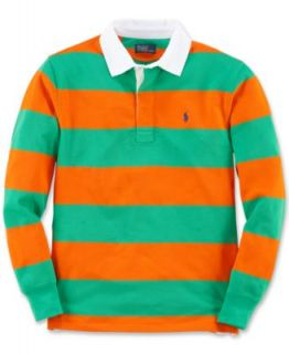 Ralph Lauren Kids Shirt, Boys Crew Neck Long Sleeve Striped Shirt   Kids