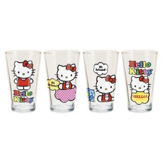 Hello Kitty Pint Glass Set of 4