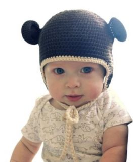 Melondipity Boys Chocolate Brown Organic Crochet Bear Baby Hat   Cute Beanie Clothing