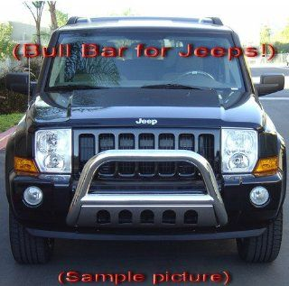 Premium Custom Fit 2006 2011 Jeep Commander Stainless Grille Bumper Bull Guard Light Bar Automotive