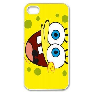 Personalized Cartoon SpongeBob SquarePants Protective Snap on Cover Case for iPhone 4/4S SS191 Cell Phones & Accessories