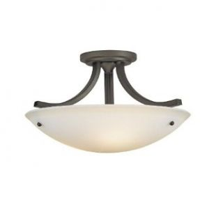 Murray Feiss SF189ORB Gravity 3 Light Wrought Iron Semi Flush Ceiling Fixture, Oil Rubbed Bronze   Close To Ceiling Light Fixtures