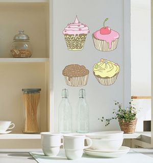 cup cakes wall sticker  by nubie modern kids boutique