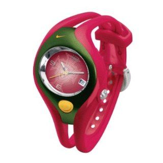 Nike Triax Swift Analog Soccer Federation Portugal Team Watch   Red/Green/Gold   WD0025 607 Sports & Outdoors