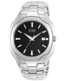 Citizen Mens Eco Drive Stainless Steel Bracelet Watch 38mm BM6010 55E   Watches   Jewelry & Watches