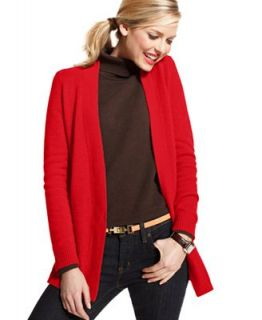 Charter Club Petite Sweater, Long Sleeve Open Cashmere Cardigan   Sweaters   Women