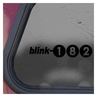 Blink 182 Black Sticker Decal Punk Rock Band Laptop Die cut Black Sticker Decal   Decorative Wall Appliques