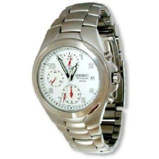 Seiko Mens 100M Chronograph Stainless Steel Watch SND181 Watches