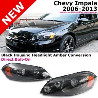 Chevy Impala 06 13 Monte Carlo Headlights Lamp Conversion Black Amber Clear Len Automotive