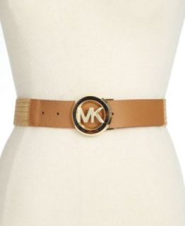 Michael Kors Reversible Leather Belt with Logo Buckle Belt   Handbags & Accessories