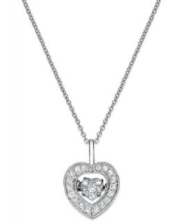Wrapped in Love� 14k Gold Diamond Heart Pendant Necklace (1/6 ct. t.w.)   Necklaces   Jewelry & Watches