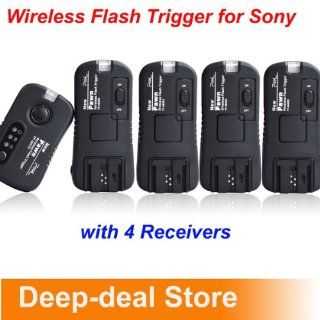 Pixel TF373 Wireless Flash Trigger for Sony with 4 Receiver FlashGun studio light 	 Sony a900. a700, a550, a500, a450, a350, a330, a300, a230, a200, a100  Camera & Photo