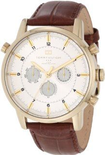 Tommy Hilfiger Men's 1790874 Gold Plated and Brown Croco Leather Strap Watch Tommy Hilfiger Watches