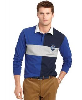 Izod Shirt, Long Sleeve Chest Stripe Rugby Polo   Polos   Men