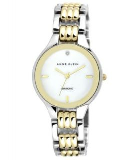 Anne Klein Watch, Womens Two Tone Bracelet 10 8655SVTT   Watches   Jewelry & Watches