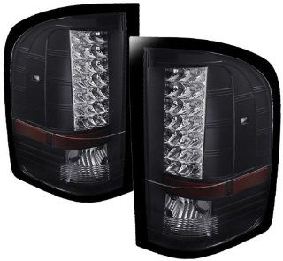 Spyder Auto (ALT JH CS07 LED BK) Chevy Silverado Black LED Tail Light   Pair Automotive