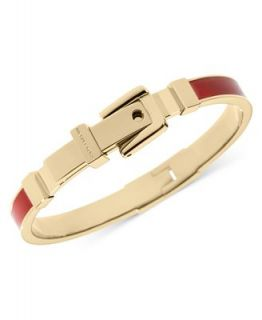 Michael Kors Gold Tone Red Epoxy Buckle Bangle Bracelet   Fashion Jewelry   Jewelry & Watches
