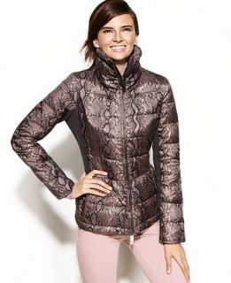 Kenneth Cole Reaction Printed Quilted Puffer Coat   Coats   Women