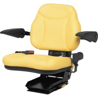 A & I Products Big Boy Suspension Tractor Seat — Yellow, Model# BBS108YL  Construction   Agriculture Seats
