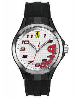 Scuderia Ferrari Watch, Mens Lap Time Black Silicone Strap 44mm 830013   Watches   Jewelry & Watches