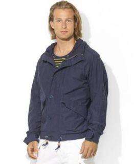 Ralph Lauren Hooded Waxed Cotton Nylon Anorak   Coats & Jackets   Men