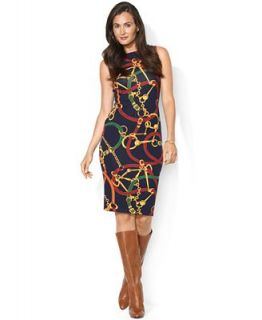 Lauren Ralph Lauren Sleeveless Equestrian Print Dress   Tops   Women