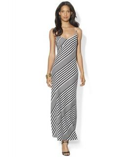 Lauren Ralph Lauren Dress, Sleeveless Striped Maxi   Dresses   Women