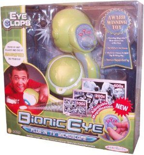 EyeClops the Bionic Eye Multi Zoom (100x, 200x and 400x) Magnifier Set That Plugs to Your TV with EyeClops Bionic Eye, I.R.I.S Lens Attachment, Viewing Tube, Viewing Dish, and Base Toys & Games