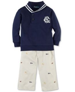 Ralph Lauren Baby Set, Baby Boys 2 Piece Fleece Sweater and Pants   Kids