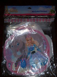 "Barbie Island Princess ""Happy Birthday"" Banner Toys & Games"