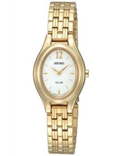 Seiko Watch, Womens Solar Gold Tone Stainless Steel Bracelet 21mm SUP008   Watches   Jewelry & Watches