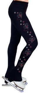Ice Figure Skating Dress Practice Pants with Rhinestones R45   Adult Extra Small  Athletic Pants  Sports & Outdoors